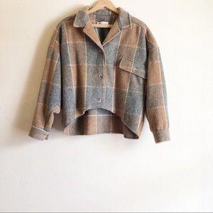 Vintage Jack Winter Plaid Wool Jacket Cropped